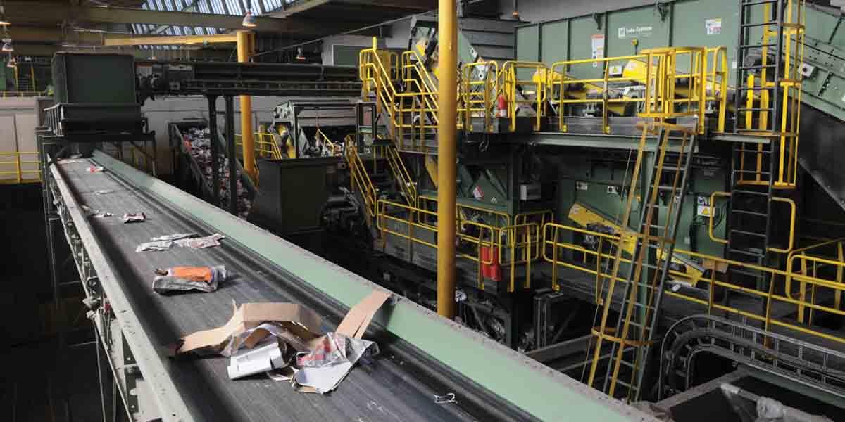 Rubbish conveyor belt