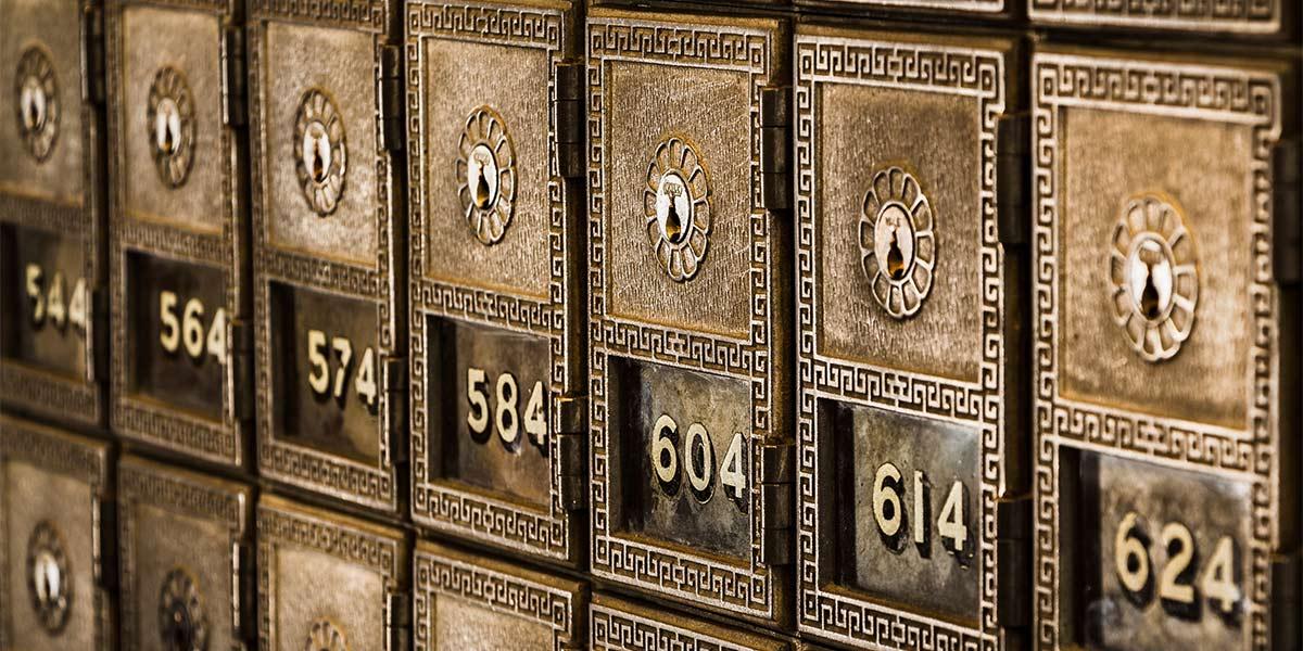 Bank safe boxes