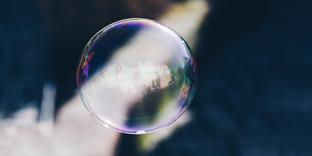Bubble with abstract background
