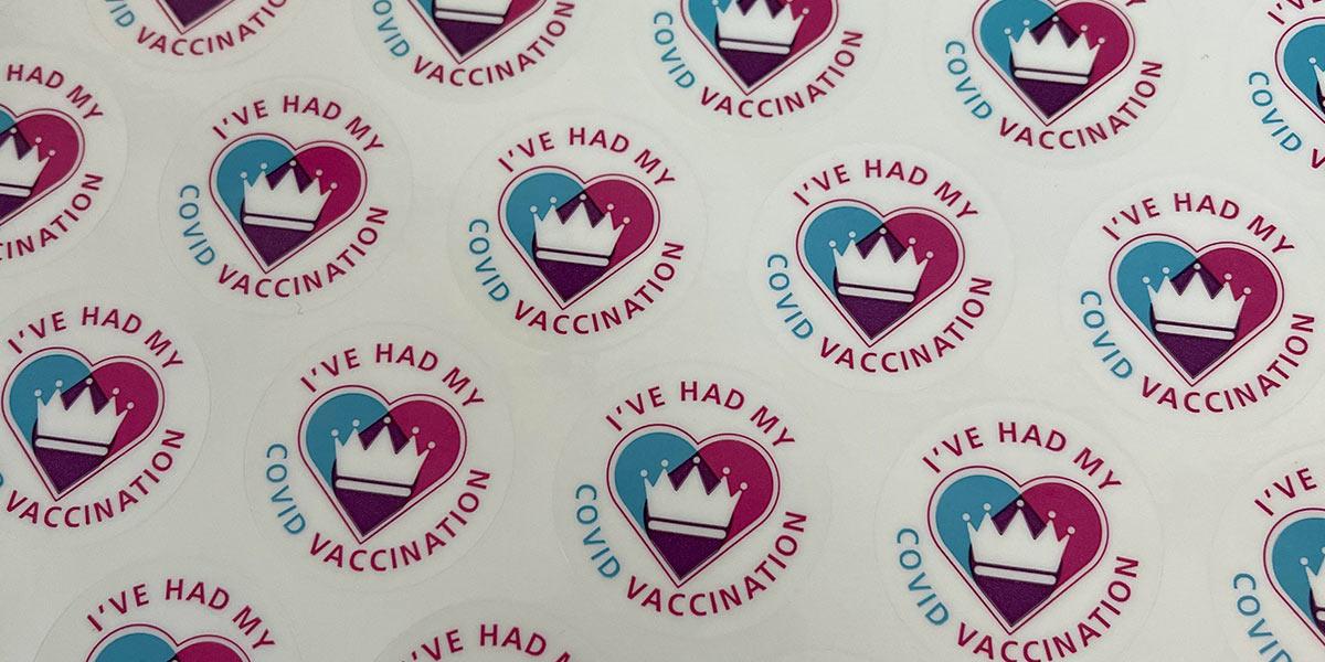 Covid vaccine stickers