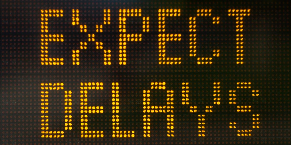 Expect delays electronic display
