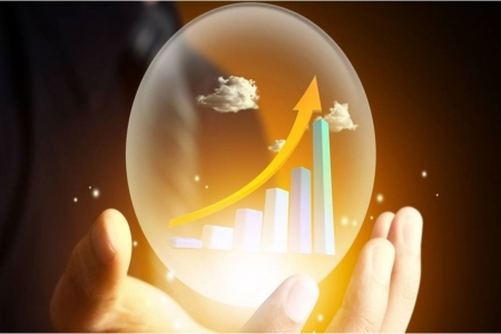 Chart with an upward trajectory in a glass bubble| Rathbone Investment Management