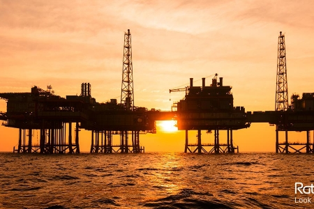 Oil rigs in front of a sunset | Rathbone Investment Management