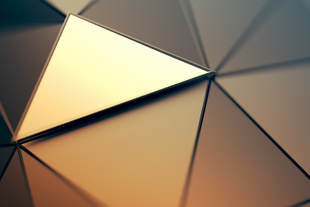 Abstract mirror triangle shape