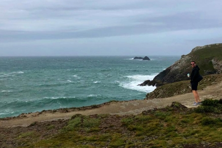Stormy Cornwall beach
