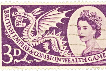 British commonwealth games stamp