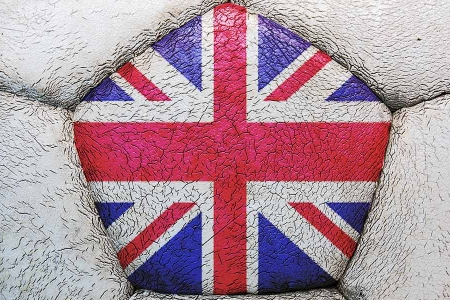 Football ball with union jack